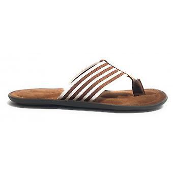 Men's Shoes Elite Slipper Flip Flops Band E Suede Tobacco Us17el20