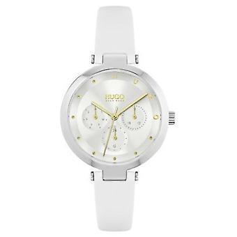 HUGO 1540086 Hope Gold & White Leather Ladies Watch