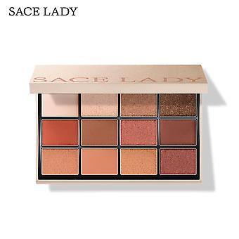 Palette d'ombres à paupières de 12 couleurs mat pearlescent haute couleur et durable