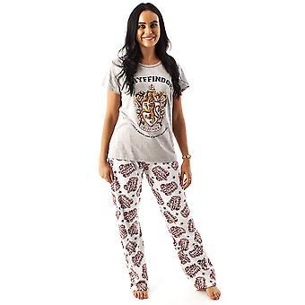 Pyjama Harry Potter pour femmes   Ladies Gryffindor House Crest Top & Loungepants PJ ensemble   Hp Vêtements Marchandises