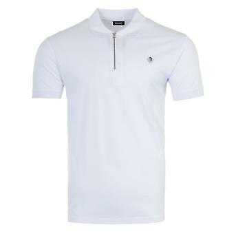ディーゼル T-ハート モホーク ロゴ ジップ ポロ シャツ - ホワイト
