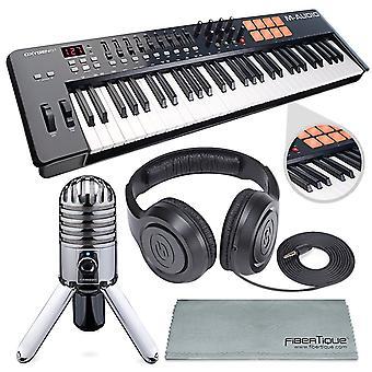 M-audio oxygen 49 mk iv 49-key usb midi keyboard/drum pad controller with vip so ps80307