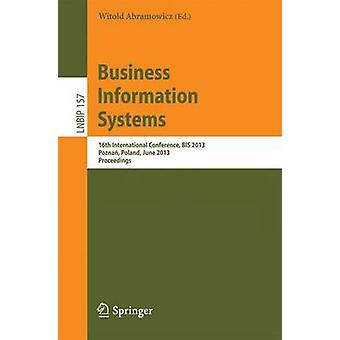 Business Information Systems - 16e Internationale Conferentie - BIS 201