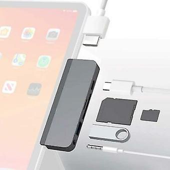 iPad プロ スペース グレー用ハイパードライブ 6-in-1 USB-C ハブ - HD319-GRAY