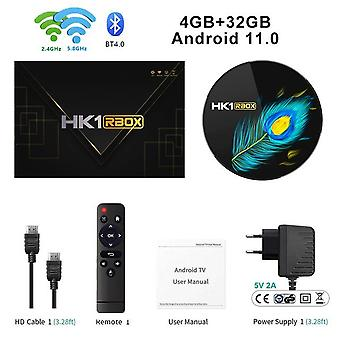 Tv box hk1 rbox r3 android 11 smart tvbox 4/8gb ddr4 4k 2.4/5g wifi bt4.0 rk3566 quad-core hk1rbox iptv media player set top box