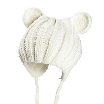 الشتاء قبعة الطفل مع آذان الكرتون الدانتيل متابعة غطاء محرك السيارة الطفل