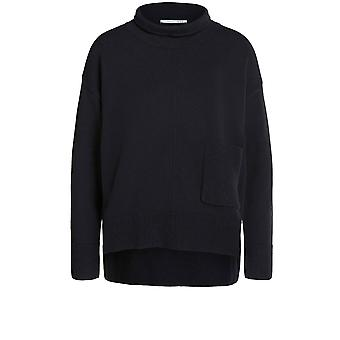 Oui Black High Neck Jumper