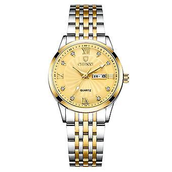 New Couple Watches Luxury Date Week Clock Wristwatches