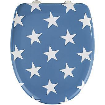 WC zitting Stella 45 x 38 cm duroplast blauw/wit