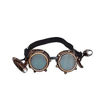 Lunettes avec lumière frontale steampunk adulte