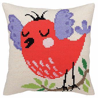 Samling d'Art Cross Stitch Kit: Kudde: Vårsånger
