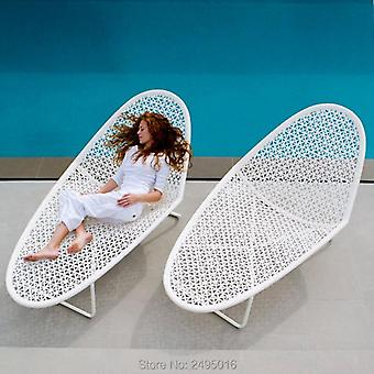 Aluminum Outdoor Rattan Daybed Lounger