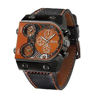 Men's Quartz Casual Leather Strap Wristwatch