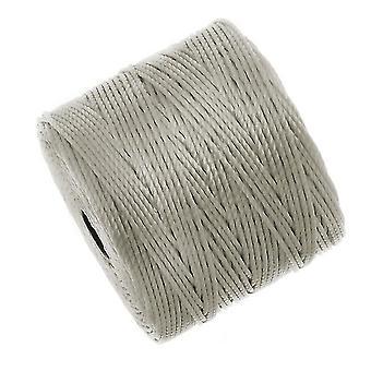 Super-Lon (S-Lon) Cord - Size #18 Twisted Nylon - Light Gray (77 Yard Spool)