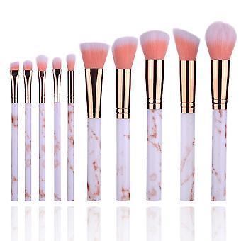 10 Marble makeup brushes 5 big 5 small marble pattern makeup brush set