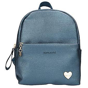 Depesche 10818 - TOPModel faux leather backpack, blue, ca. 15 x 19.5 x 22.5 cm