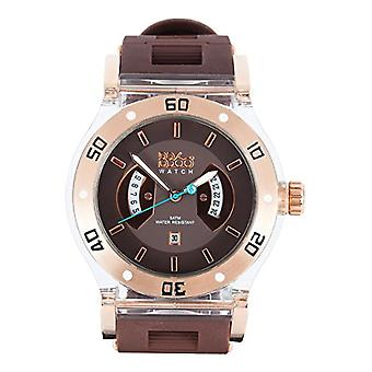 B360 WATCH Unisex Large wristwatch, 5 bars silicone quartz B CLASS TG BROWN CLEAR L