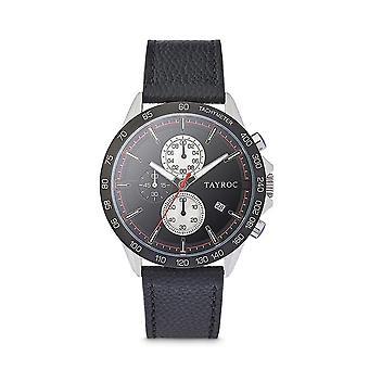 Tayroc hampton 44mm stainless steel chronograph watch black/black
