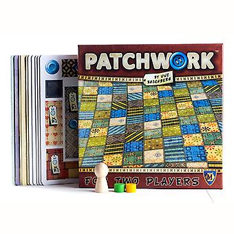 Patchwork Board Game For Two Players Funny Party Paper Cards Chinese/english Version