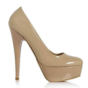 Ten Patent Leather High Platform Heeled Shoes Ma-008