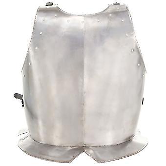 vidaXL Mittelalterliche Ritter-Brustpanzer Kürass LARP Replik Silbern Stahl