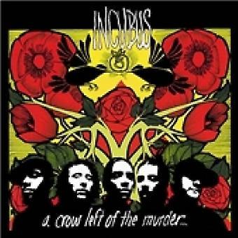 Um corvo à esquerda do CD do assassinato