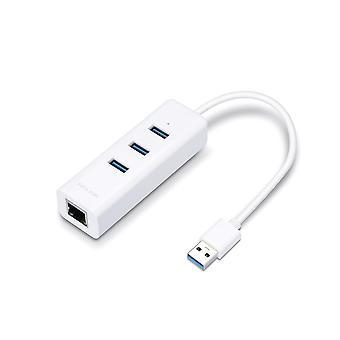 TP-LINK UE330 USB 3.0 (3.1 Gen 1) Tipo-A 1000Mbit/s Concentrador de interfaz blanco