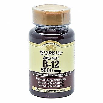 Windmill Health Vitamin B-12, 5000Mcg, 60 Count