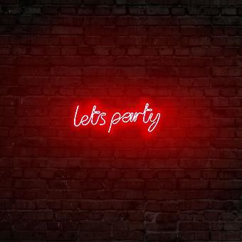 Lets Party - Röd röd vägglampa