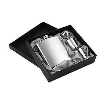 7oz Stainless Steel Pocket Alcohol Flask & Funnel Cups Set