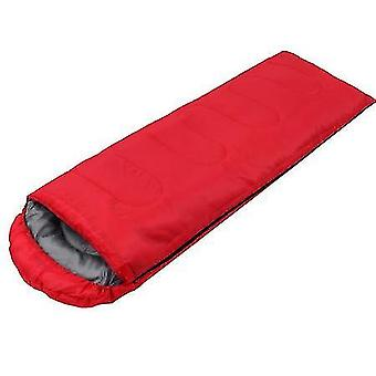 Sleeping Bags With Hood Lightweight Compact Outdoor Camping Hiking Backpacking Travel(Red)