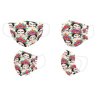 Hygienic Reusable Fabric Mask Adult Flowers