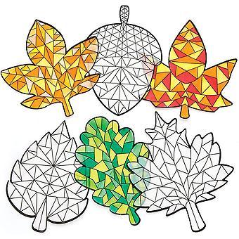"""Fensterdekorationen """" Herbst"""" (12er-Pack), Suncatcher-Glasmalereieffekt für Kinder, ideal"""