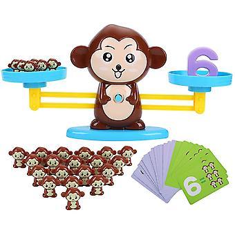 Mathe Waage Spielzeug, AFFE Digital Game Waage Spielzeug, Zählen und Rechnen, Geschicklichkeit