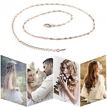 Wave Shape Singapore Style Jewelry Rose Gold-plate Chain Link Chain Accessory