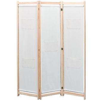 vidaXL 3-osainen huoneenjakajavoide 120 x 170 x 4 cm kangas