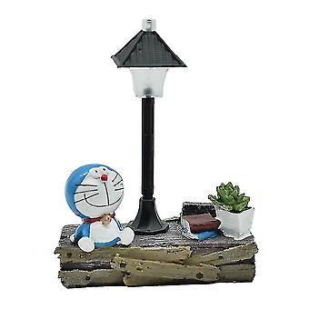 Doraemon Street Lampe Nachtlicht Harz Handwerk Zimmer Ornamente
