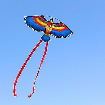 الطائرات الورقية في الهواء الطلق الببغاوات الزرقاء الخضراء الحمراء طائرة ورقية نسيم خط واحد تحلق متعة الرياضة