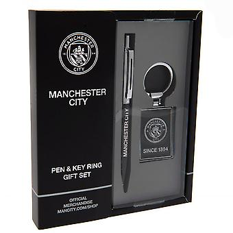 Manchester City FC Pen & Conjunto de llaveros