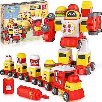 Tag ud Toys 5 i 1 Byggeri Vehicle Transform Toys Train Set