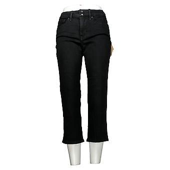 NYDJ Women's Pants Cool Embrace Skinny Crop Side Slits Black A377694