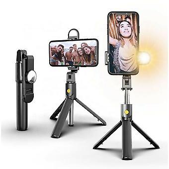 4 في 1 Selfie عصا بلوتوث ترايبود مع ضوء LED لفون / سامسونج