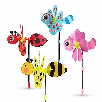 Colorful 3d Bee Design Lovely Handmade Wind Spinner For Decoration