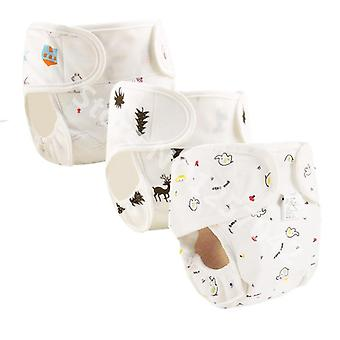 Cotton Baby Nappies Diaper Cloth Diapers Nappy Cover Waterproof  Newborn Baby
