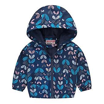 Baby Fashion Print Coat, Waterproof Hoodies Jackets