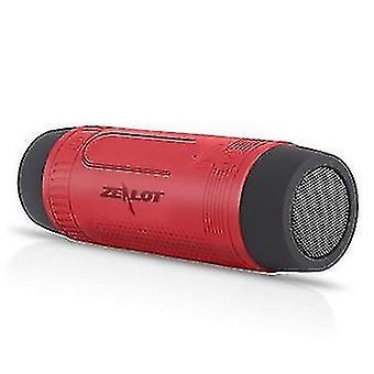Reproduktory led baterka bluetooth reproduktor červená