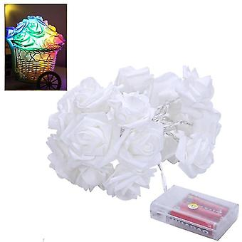 3m rose string lichten simulatie bloem LED fairy licht snaren bruiloft kerst decoratie (warm