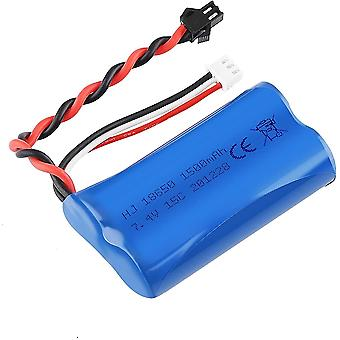 1500mah lipo battery 7.4v 2s for u12a s033g q1 h101 with sm-2p connector for rc toys boat car