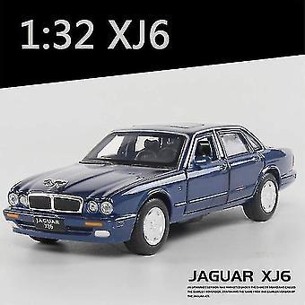 1:32 Jaguar XJ6 Modello di auto In lega Modello suono e luce giocattolo bambino oggetti da collezione (blu)