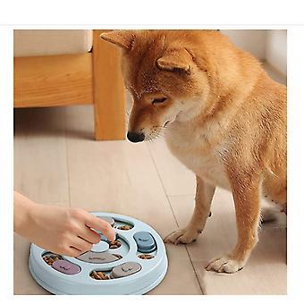 Koiran palapeli lelu hidas syöttölaite - Interaktiivinen koiran hoito annostelu syöttölaite parantaa koiran palapeli hidas ruoka bowl peli lelu liukumaton pohja pennulle